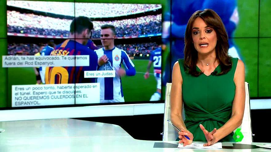 María Martínez, informando de las amenazas de muerte a Adrià Pedrosa