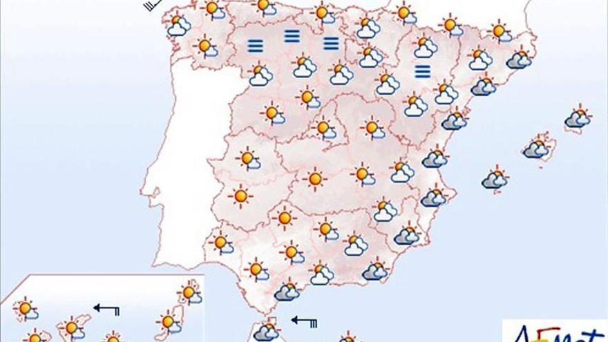 Hoy, tiempo estable con cielos poco nubosos en la mayor parte del país