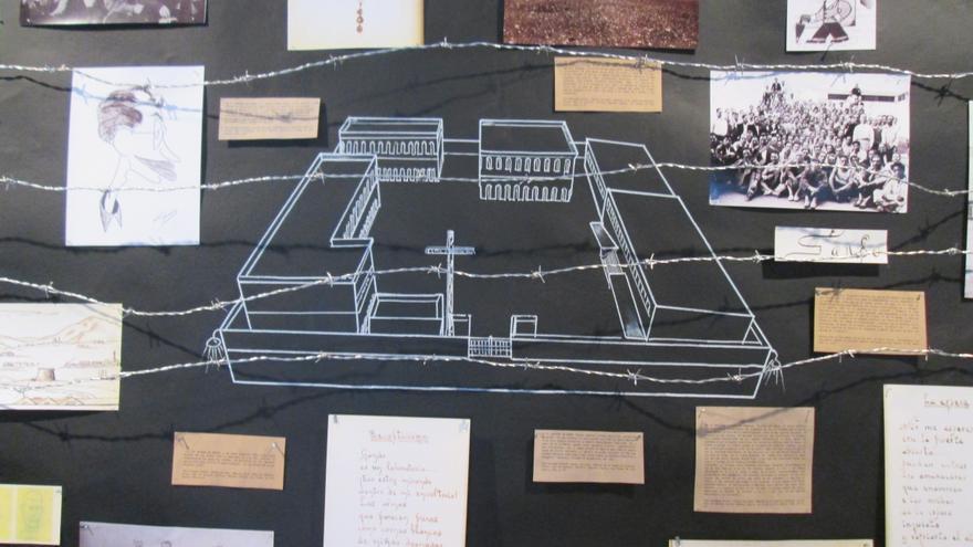 Montaje artístico con documentos pertenecientes a los ejecutados. Foto: LUZ RODRÍGUEZ.