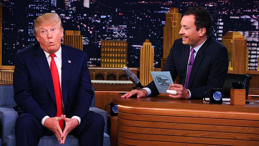 Donald Trump y Jimmy Fallon en una imagen de 2016