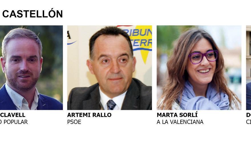 Los cinco diputados electos por la provincia de Castellón
