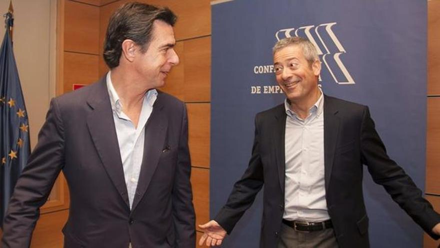 Jose Manuel Soria y Agustin Manrique de Lara
