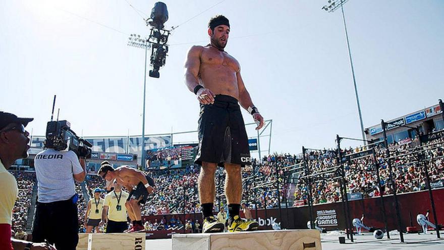 """El deportista de Cross Fit Rich Froning, considerado como el hombre en """"mejor condición física del mundo"""", al vencer cuatro veces consecutivas en los Cross Fit Games. Creative Commons."""