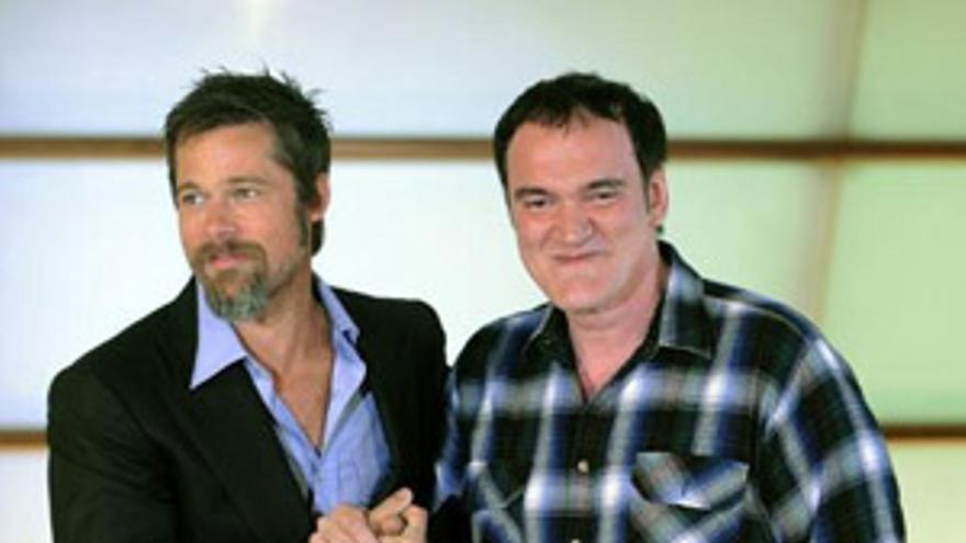 Pitt y Tarantino 'la chocan' este viernes en Donosti. (EP)