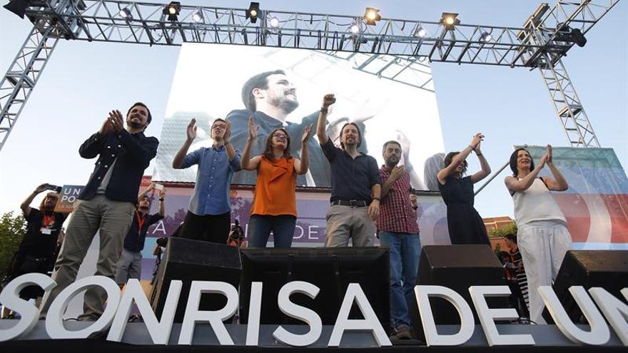 Mitin de cierre de campaña de Unidos Podemos en Madrid.