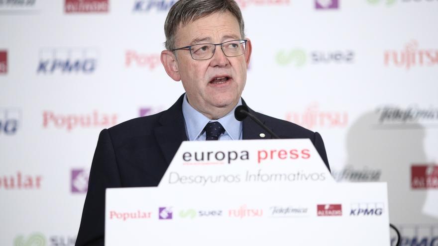 """Ximo Puig pide acabar con """"paraísos fiscales"""" como la Comunidad de Madrid y ve """"excesivas"""" las palabras de Cifuentes"""