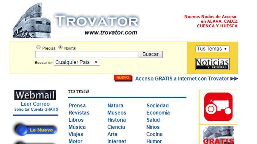En el año 2000, el buscador ofrecía la opción de conectarse a internet gratuitamente con los servidores de ComBios