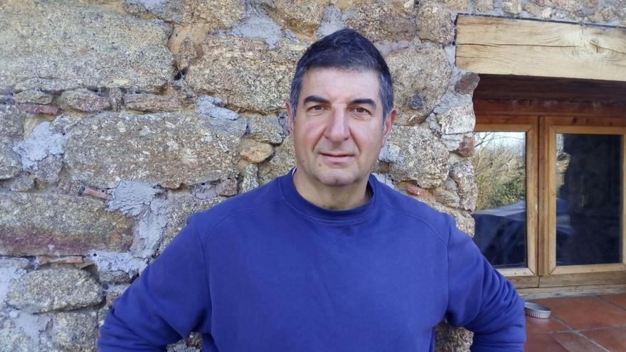 Alberto Chamorro, ganadero de Majaelrayo (Guadalajara).