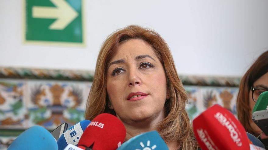 """Susana Díaz ve la dimisión de Trillo """"tardía"""" y critica la insensibilidad del exministro y el PP con las víctimas"""