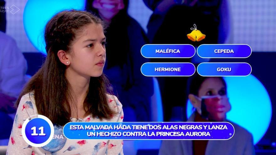 Malena responde 'Cepeda' en 'Pasapalabra'