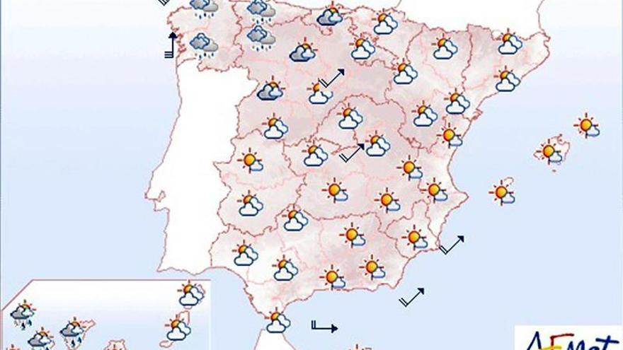 Hoy habrá vientos fuertes en las costas de Galicia, Cantábrico y Alborán