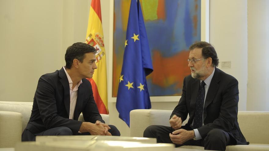 Pedro Sánchez y Mariano Rajoy, reunidos tras el referéndum del 1-O en Catalunya.