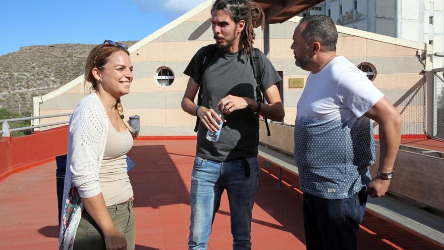 Noemí Santana, Alberto Rodríguez y Jacinto Ortega