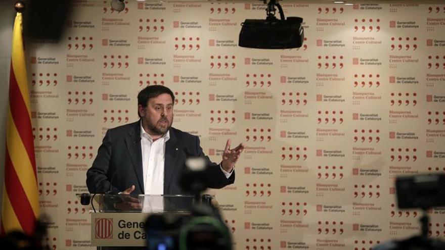 Junqueras subraya que las elecciones no alterarán el calendario de presupuestos