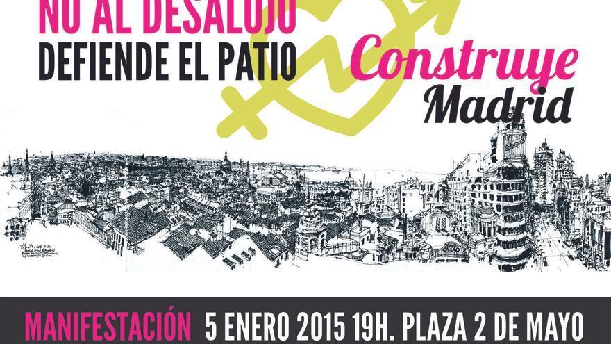 Cartel de la manifestación por el Patio Maravillas