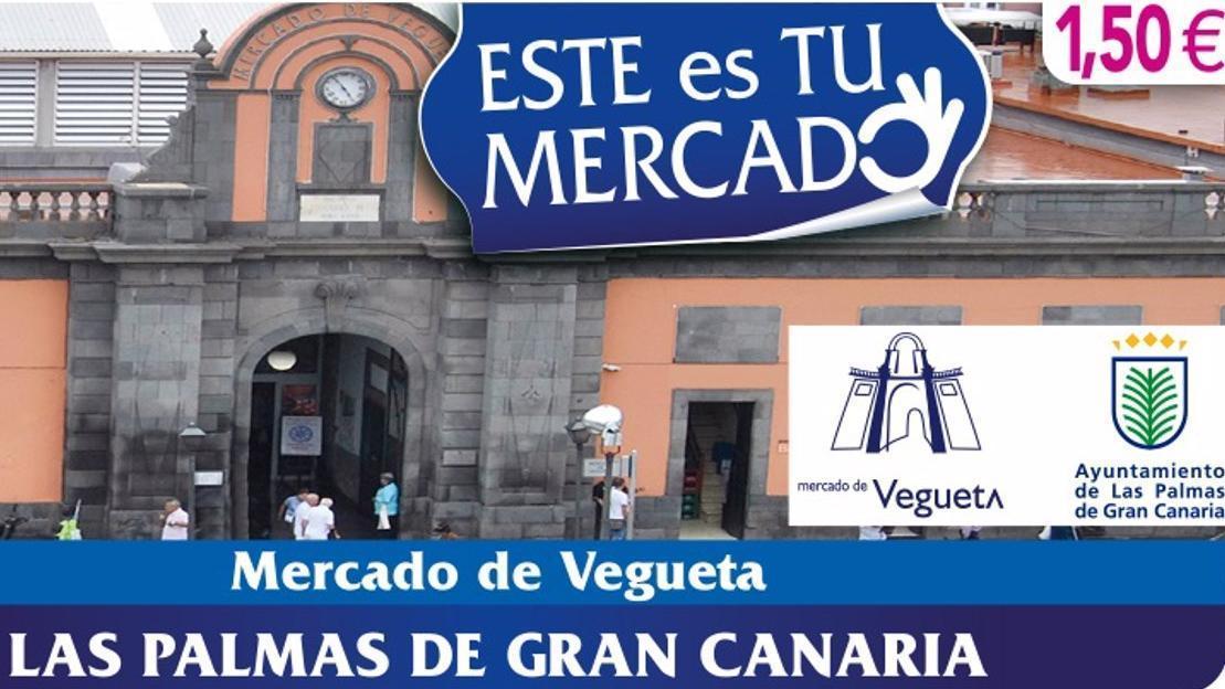Cupón de la ONCE para el 11 de mayo con la imagen del Mercado de Vegueta