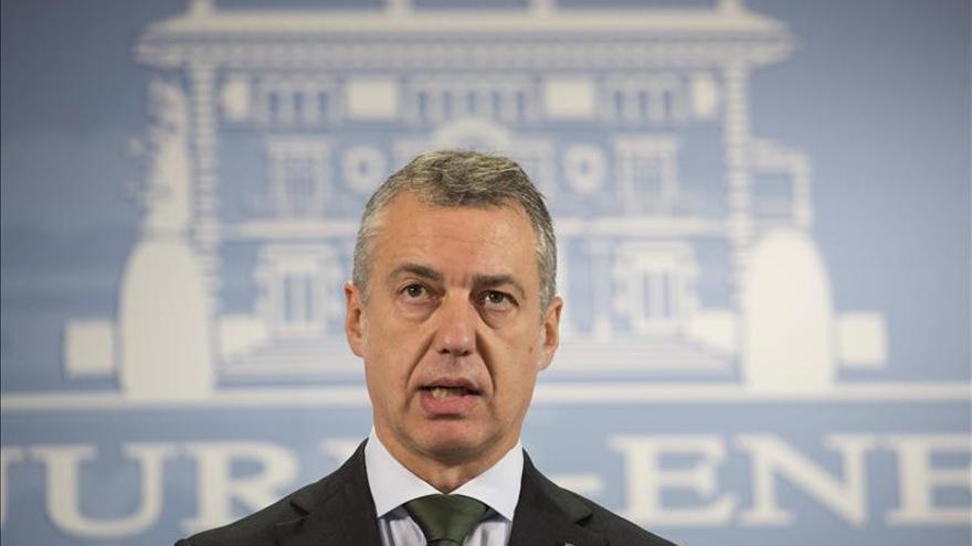 """Urkullu espera que el 9 de noviembre sea """"un punto de inflexión"""" en Cataluña"""