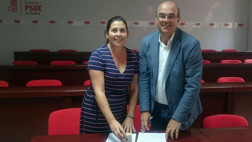 Anselmo Pestana, en el momento se presentar su precandidatura a la Secretaria General del PSOE en La Palma.