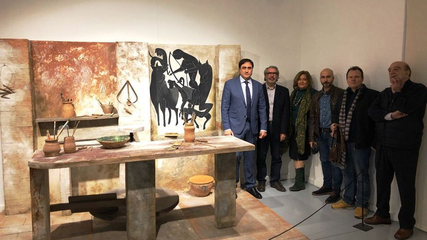 Visita a la exposición de Pedro Mercedes,en Cuenca