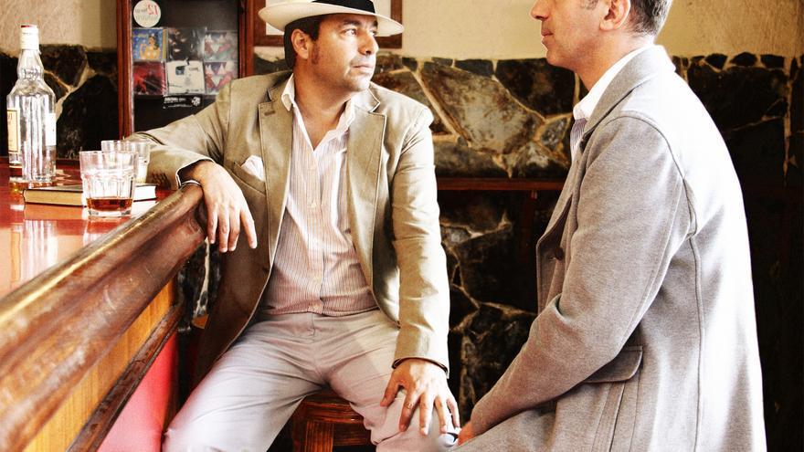 Un momento del espectáculo 'Los hombres que bebieron con Dylan Thomas'.