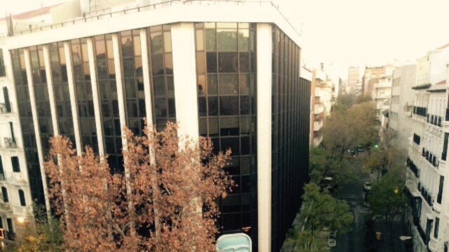 Sede del PP en la calle Génova tras el incidente / Imagen exclusiva de un vecino cedida a eldiario.es