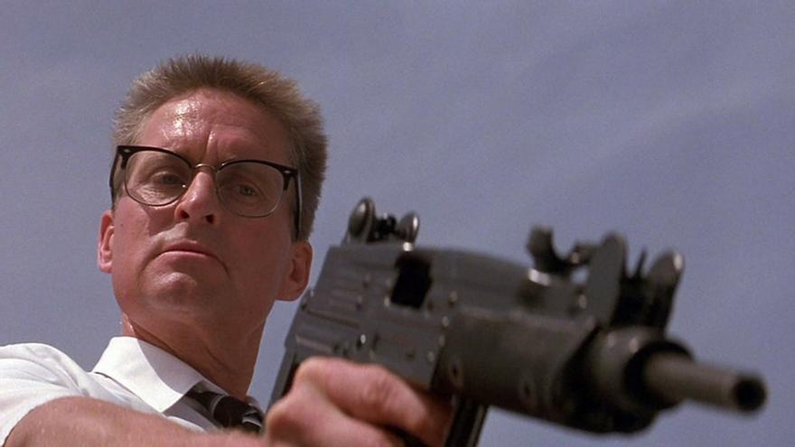Michael Douglas en 'Un día de furia', una película que Kimmel pone como ejemplo para comprender el cabreo del hombre blanco