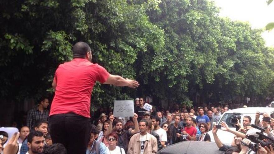 Azyz y Sabri fueron liberados en un juicio de más de 10 horas de duración y bajo la atención de cerca de 800 personas/ Fotografía: Soufiene Bouzid