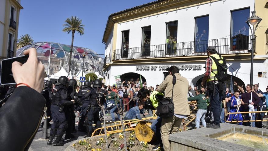 La manifestación de los agricultores en Mérida concluye con la advertencia de nuevas protestas