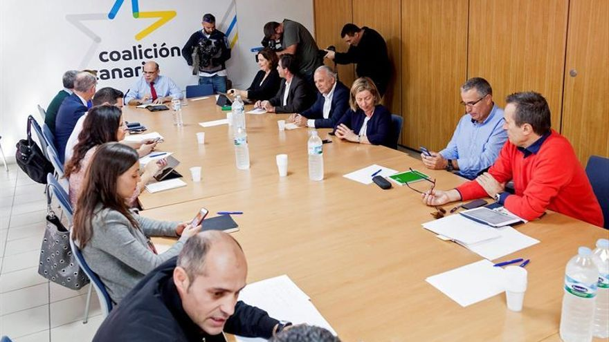 La comisión permanente de Coalición Canaria.