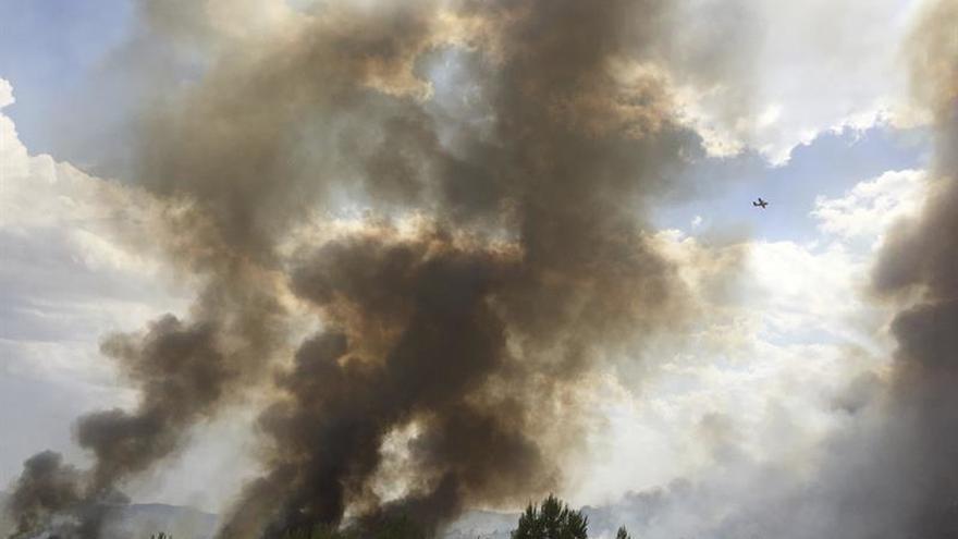 Se declara un incendio forestal en Liétor (Albacete)
