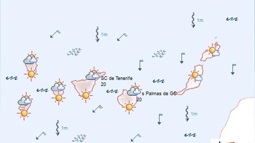 Previsión de la Aemet en Canarias para este jueves, 18 de junio de 2015.