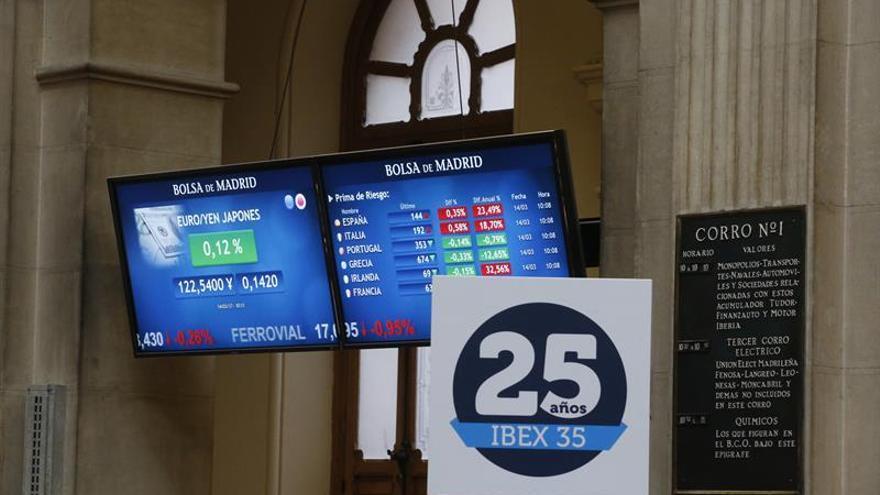 La prima de riesgo española baja a 136 puntos por la caída del bono nacional