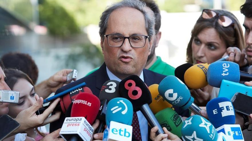 """Torra ve una """"victoria"""" que el Supremo reconozca que Puigdemont es elegible"""