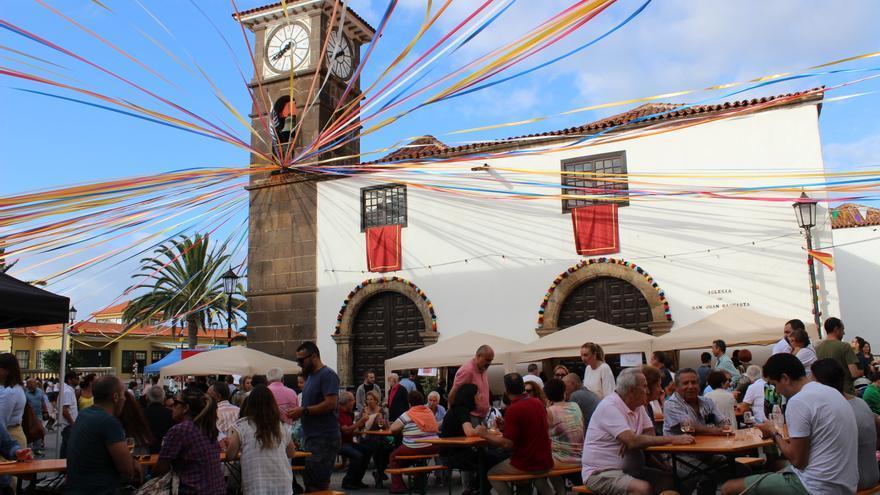 Imagen de la primera edición de la fiesta del vino y la tapa, en 2017