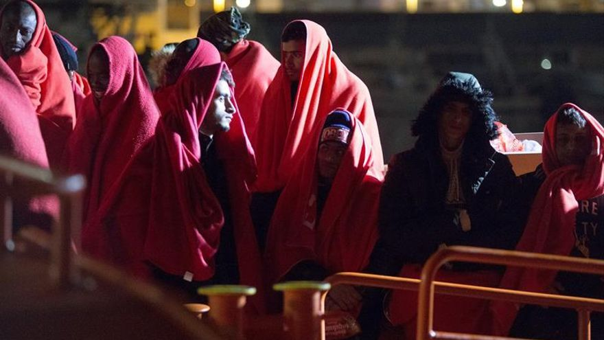 494 inmigrantes de ocho pateras rescatados en el mar de Alborán