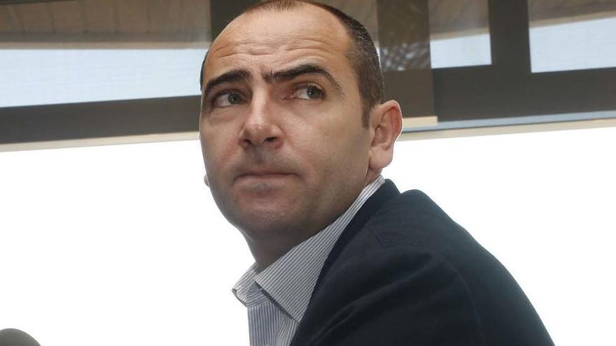 Himar Ojeda en la rueda de prensa de su despedida (ACFI PRESS).
