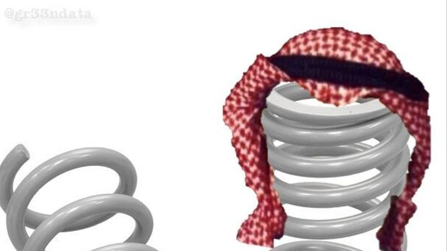The Arab Spring: portada alternativa para The Economist, por Tarek Amr