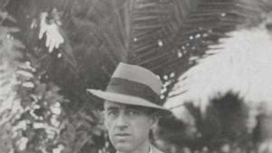 El realejero Agustín Espinosa, en una imagen histórica