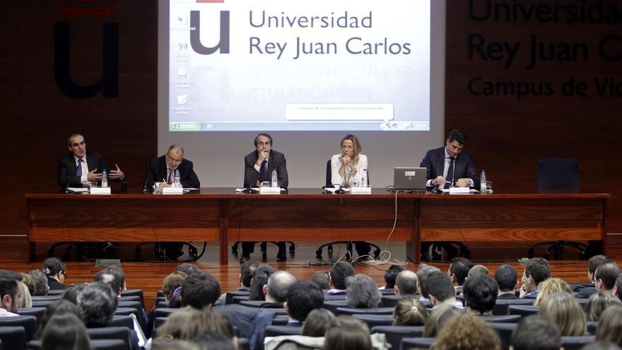 Una conferencia en la Universidad Rey Juan Carlos de Madrid / EFE