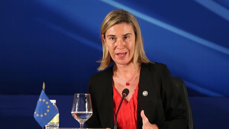 La alta Representante para Asuntos Exteriores y Seguridad de la Unión Europea, Federica Mogherini.