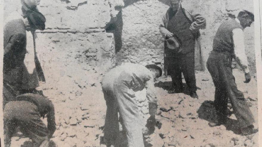 Búsqueda de los restos de la pila para su restauración.   AYUNTAMIENTO DE ALCALÁ DE HENARES