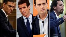 Candidatos a la presidencia del Gobierno en las Elecciones Generales del 28 de abril.