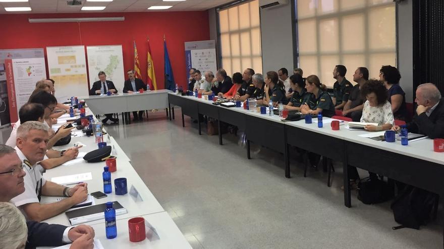 El president Ximo Puig en la reunión de coordinación por la campaña de prevención de incendios