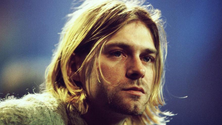 Primer plano de Kurt Cobain en uno de sus últimos directos, en Roma