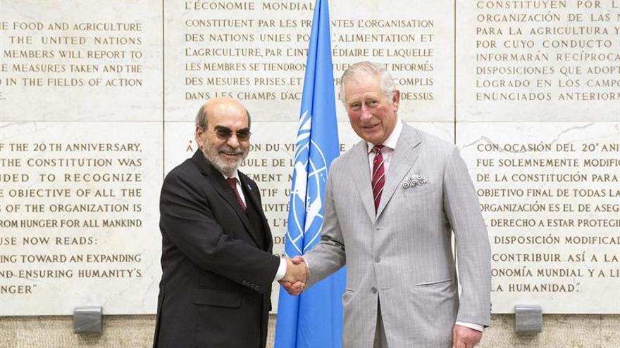 El Príncipe Carlos se reúne con autoridades italianas y visita la FAO en Roma
