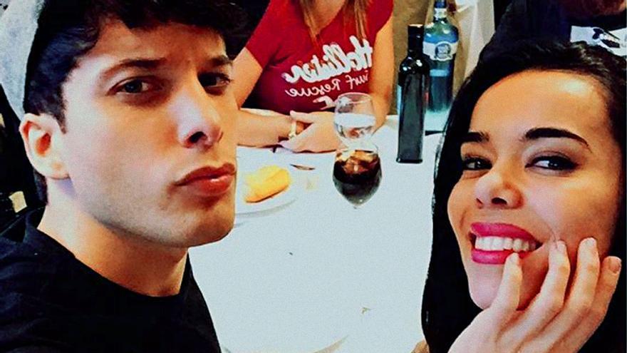 Beatriz Luengo y Blas Cantó, en una imagen de redes sociales