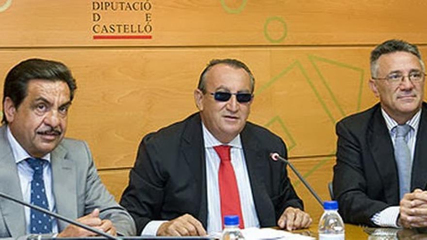 Francisco Martínez y Carlos Fabra en la Diputación de Castellón.