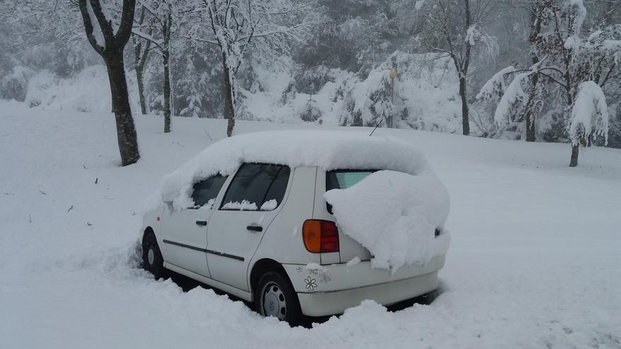 Finalizado el aviso amarillo por nieve previsto para este lunes en Euskadi