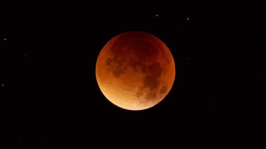 Luna eclipsada del 28 septiembre de 2015 fotografiada desde El Paso.