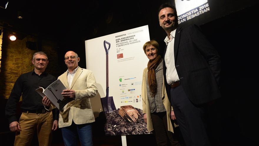 Josemi Beltrán durante la presentación del esta edición del Festival de Cine y Derechos Humanos. Foto: Donostia Kultura.